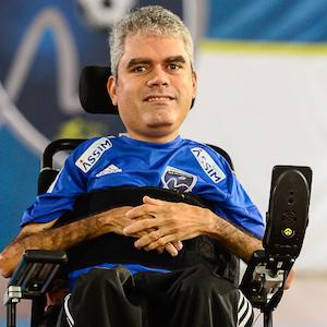Daniel Vizeu, atleta do Rio de Janeiro Power Soccer