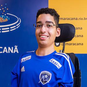 Lucas Fernandes, atleta do Rio de Janeiro Power Soccer